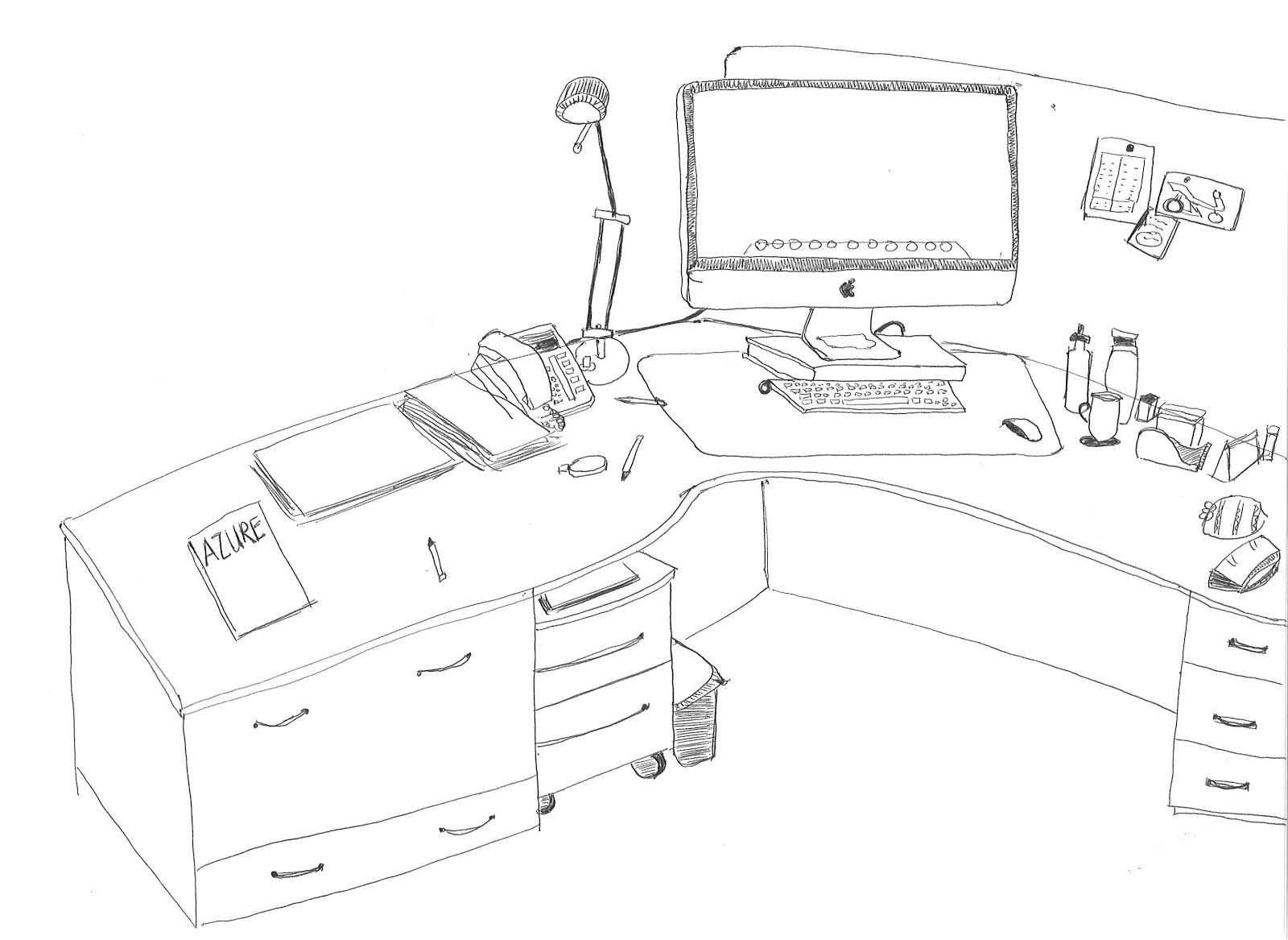 1600x1167 Carol's Drawing Journal My Office Desk