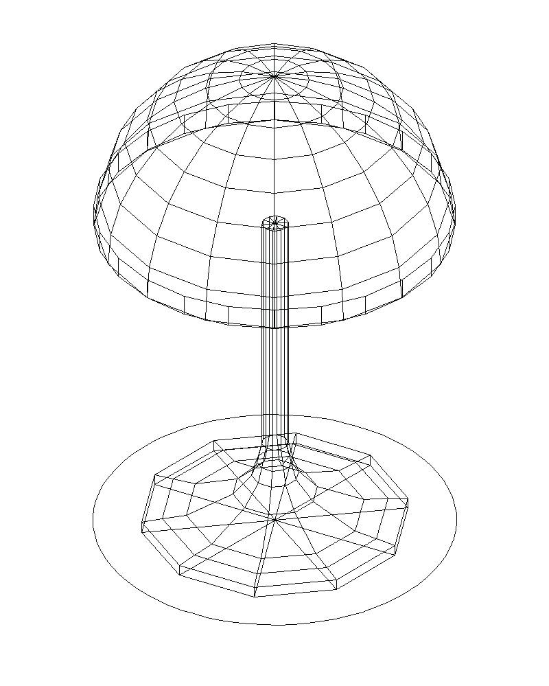800x999 Table Lamps ~ Round Table Lamp Cad Drawings Lamps Touch Walmart