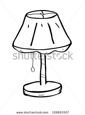 348x470 Table Lamp Doodle Art