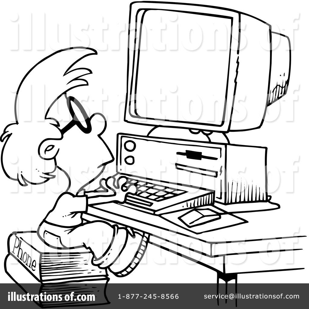1024x1024 Desktop Computer Clipart Black And White