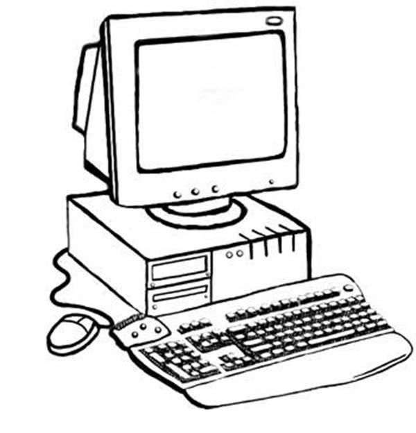 Desktop Computer Drawing at GetDrawings | Free download
