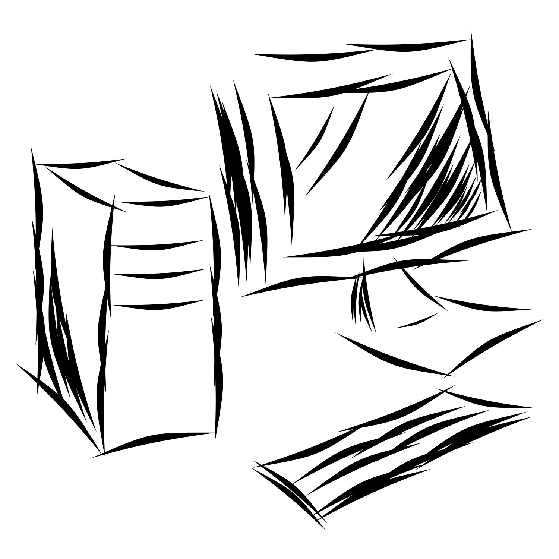 1500x1500 Vector For Free Use Sketch Desktop Computer
