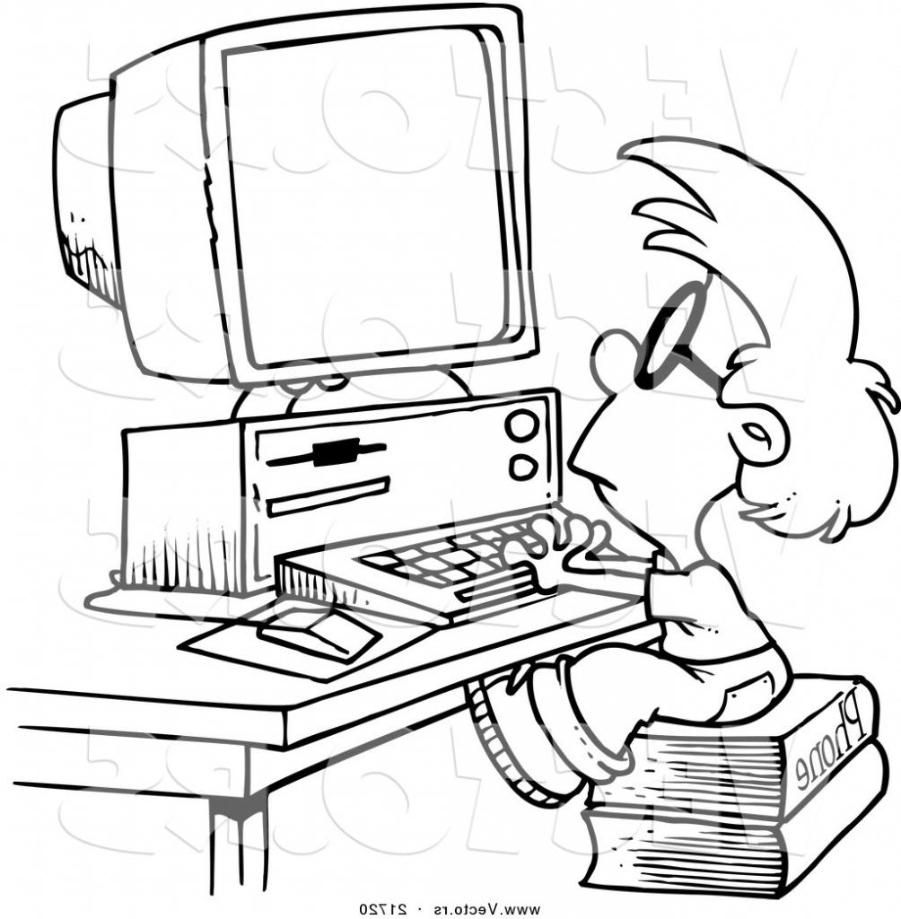 1004x1024 Computer Cartoon Drawing Cartoon Slow Computer Stock Photos