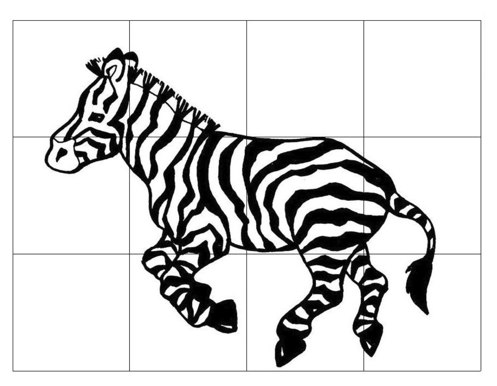1589x1237 Zebra Drawing Art