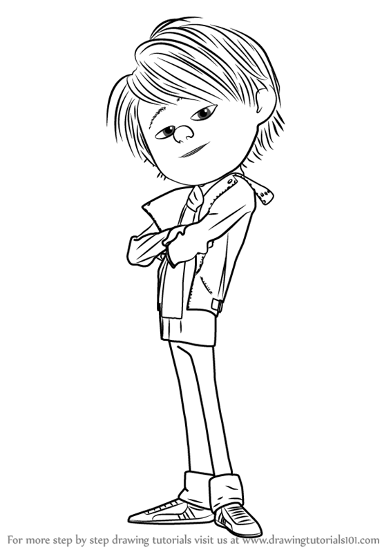 566x800 Learn How To Draw Antonio Perez From Despicable Me 2 (Despicable