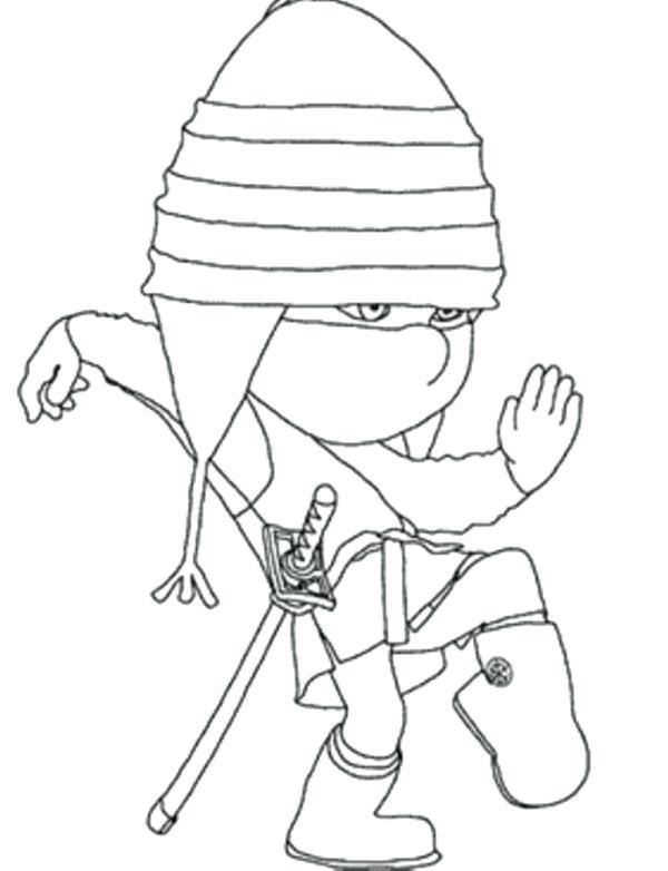 600x782 Despicable Me 2 Coloring Pages To Print Ninja Despicable Me 2