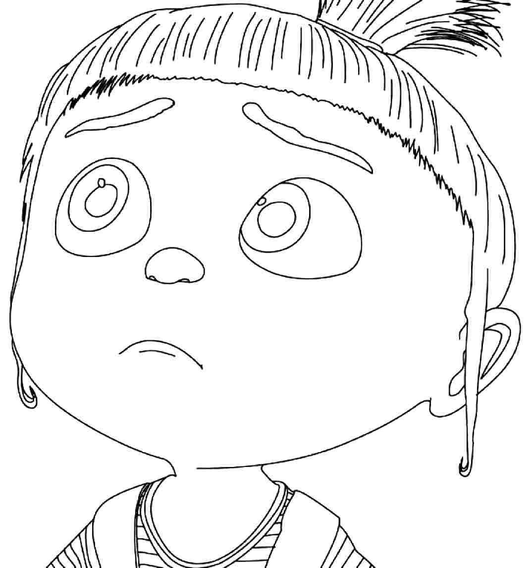 Agnes from Despicable Me coloring page | Free Printable ... |Despicable Me Agnes Unicorn Coloring Pages