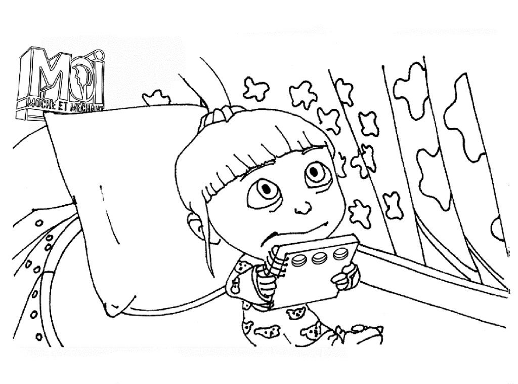 1024x758 Despicable Me Agnes Coloring Pages Fitfru Style Despicable Me