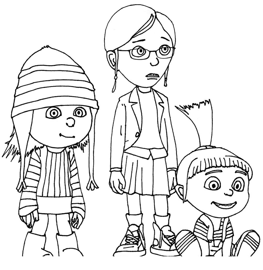 1051x1080 Despicable Me Characters Coloring Pages