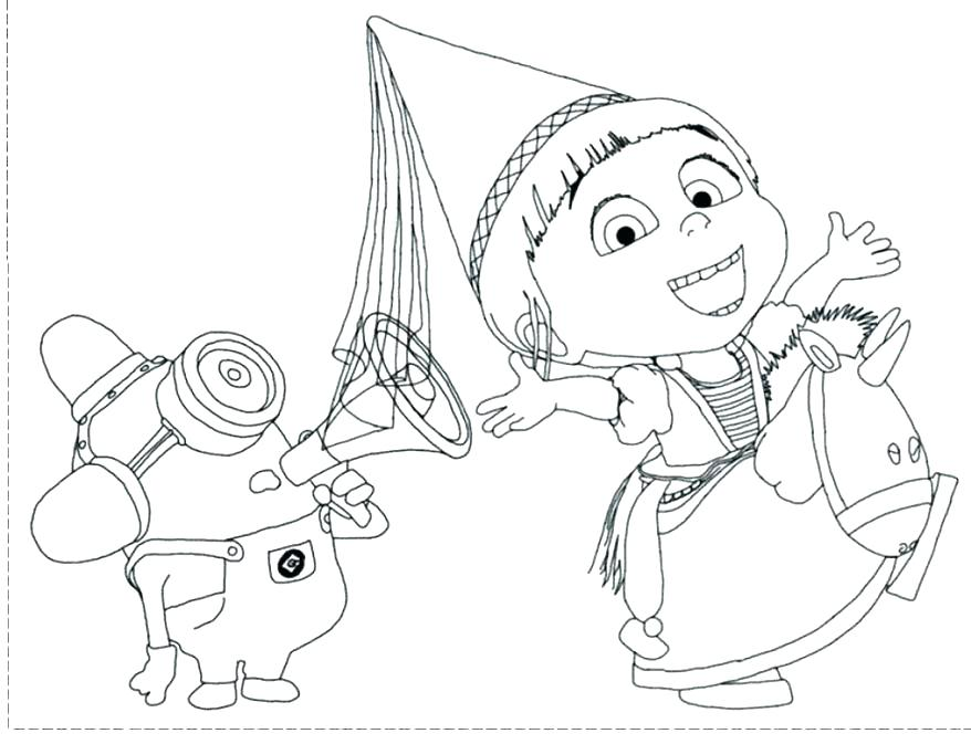 878x673 Despicable Me Coloring Pages The Minion From Despicable Me