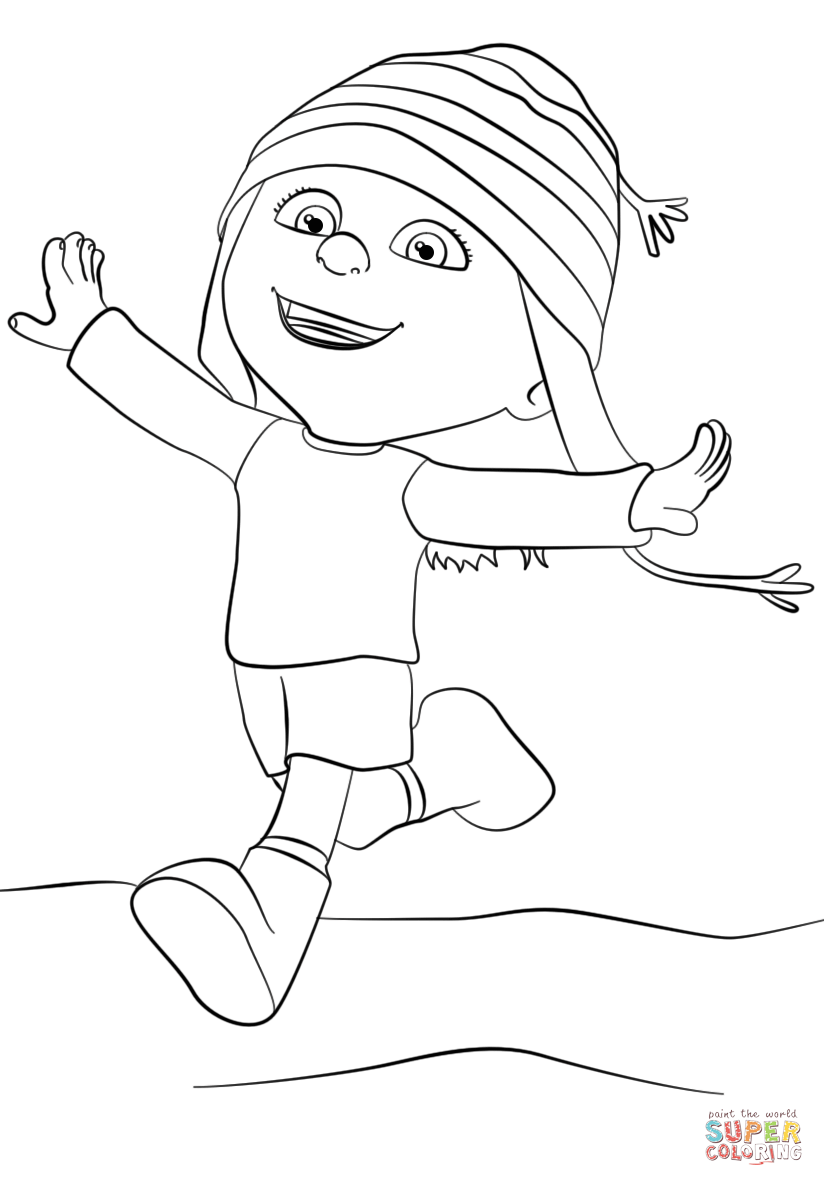 824x1186 Despicable Me Edith Coloring Page Free Printable Pages