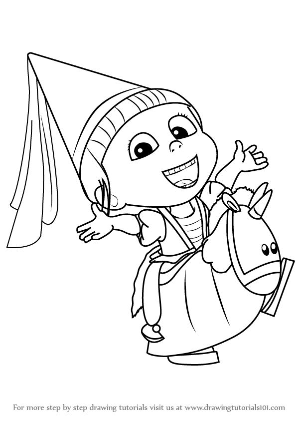 598x845 Learn How To Draw Agnes From Despicable Me (Despicable Me) Step By