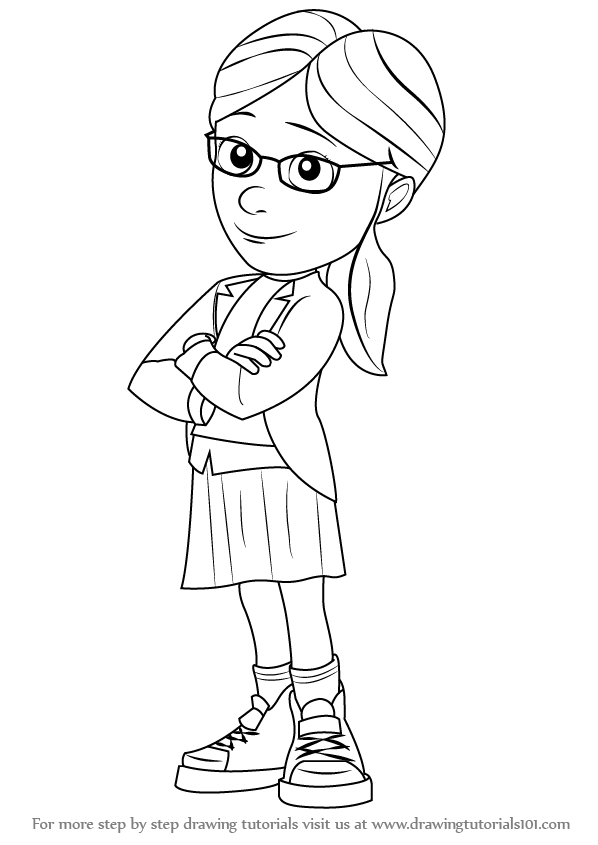 598x845 Learn How To Draw Margo From Despicable Me (Despicable Me) Step By