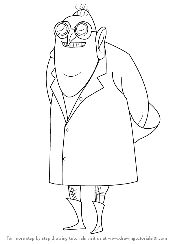598x844 Learn How To Draw Dr. Nefario From Despicable Me (Despicable Me