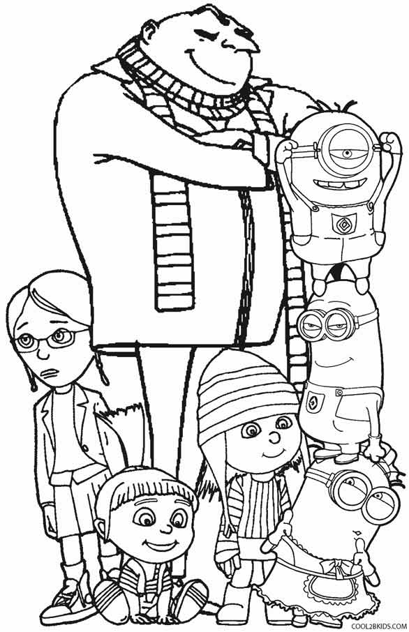 586x906 Despicable Me Coloring Pages Free Beautiful Despicable Me Coloring