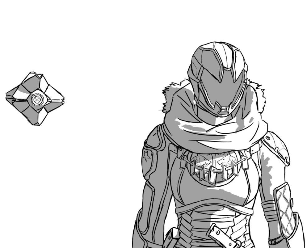 994x803 Destiny Hunter Ghost By Dantemaldonado