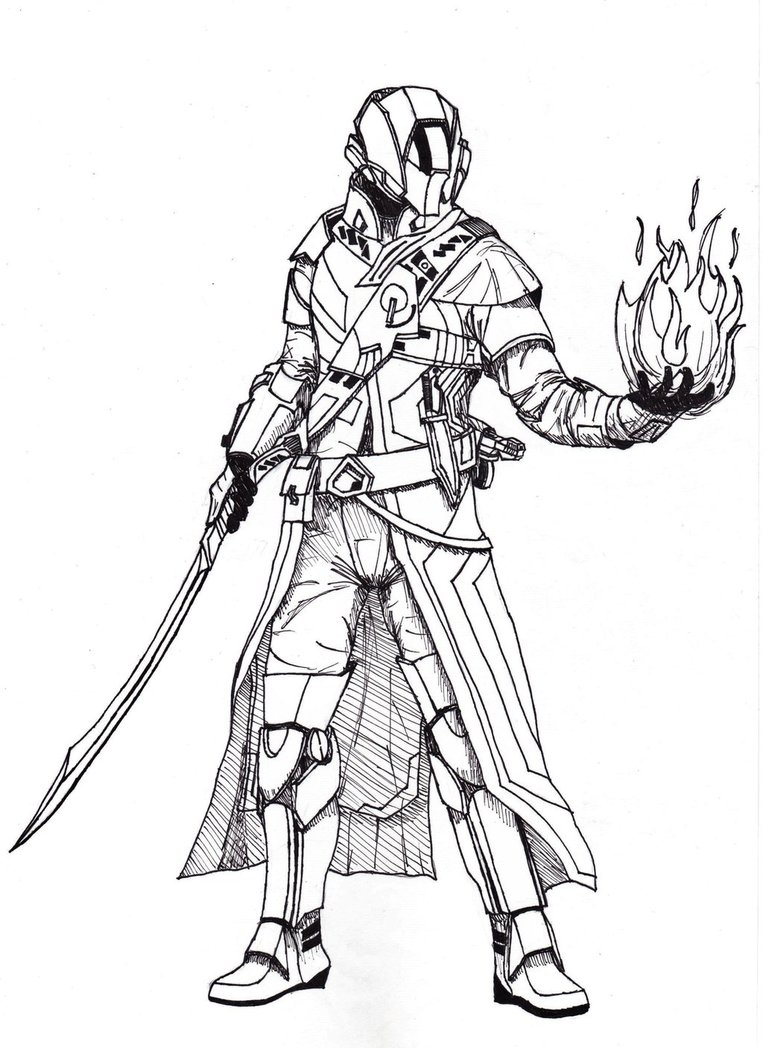 763x1048 Destiny Warlock By Sacrafire