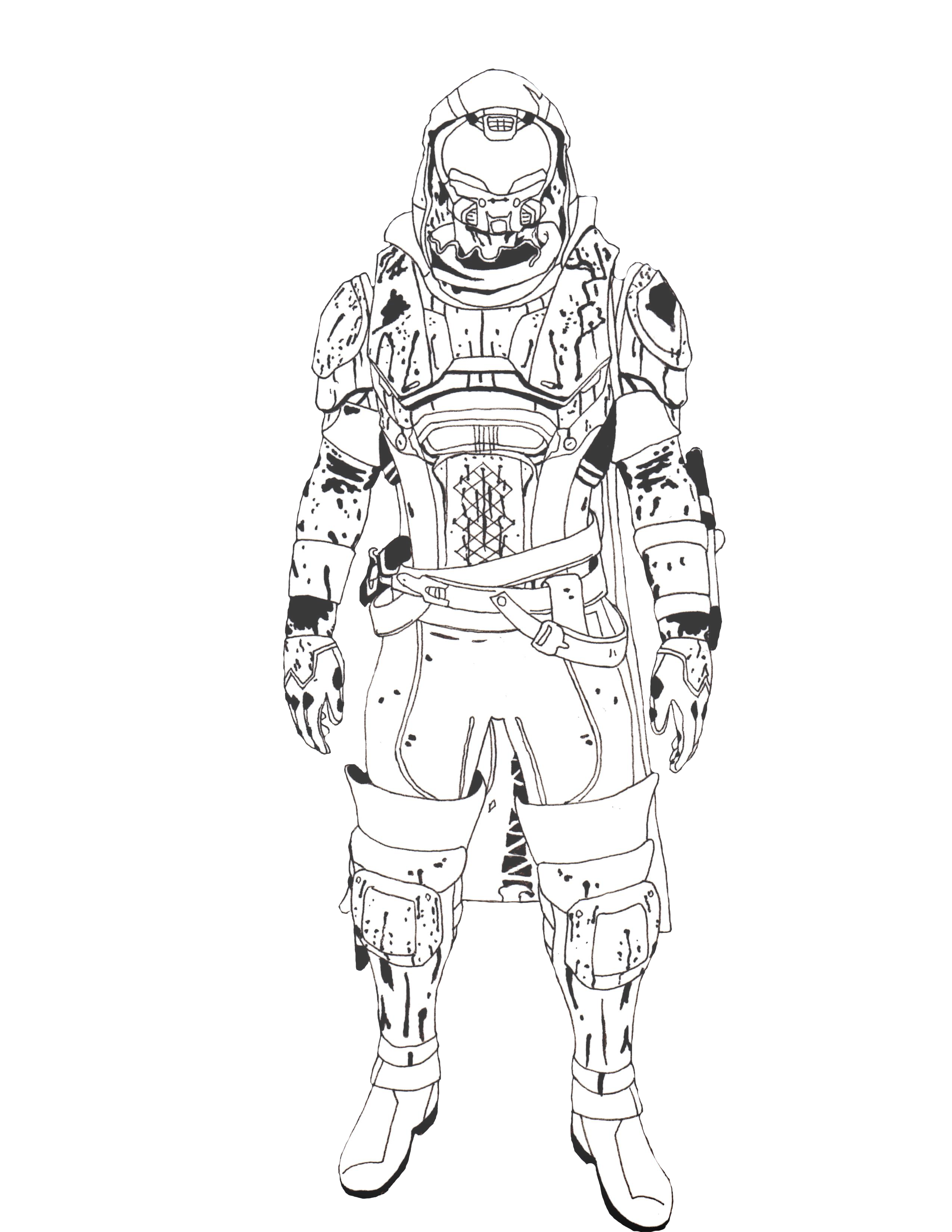 Destiny Iron Banner Hunter Coloring Pages