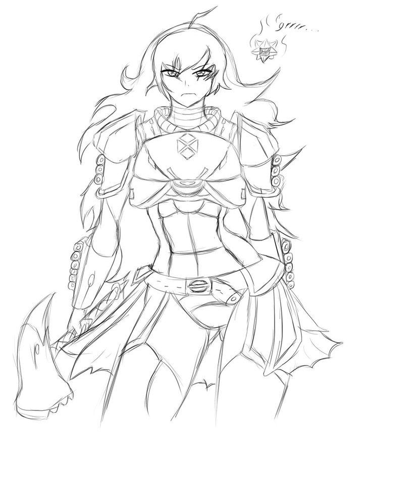 824x970 Rwbydestiny Sketch] Yang By Jakeusso