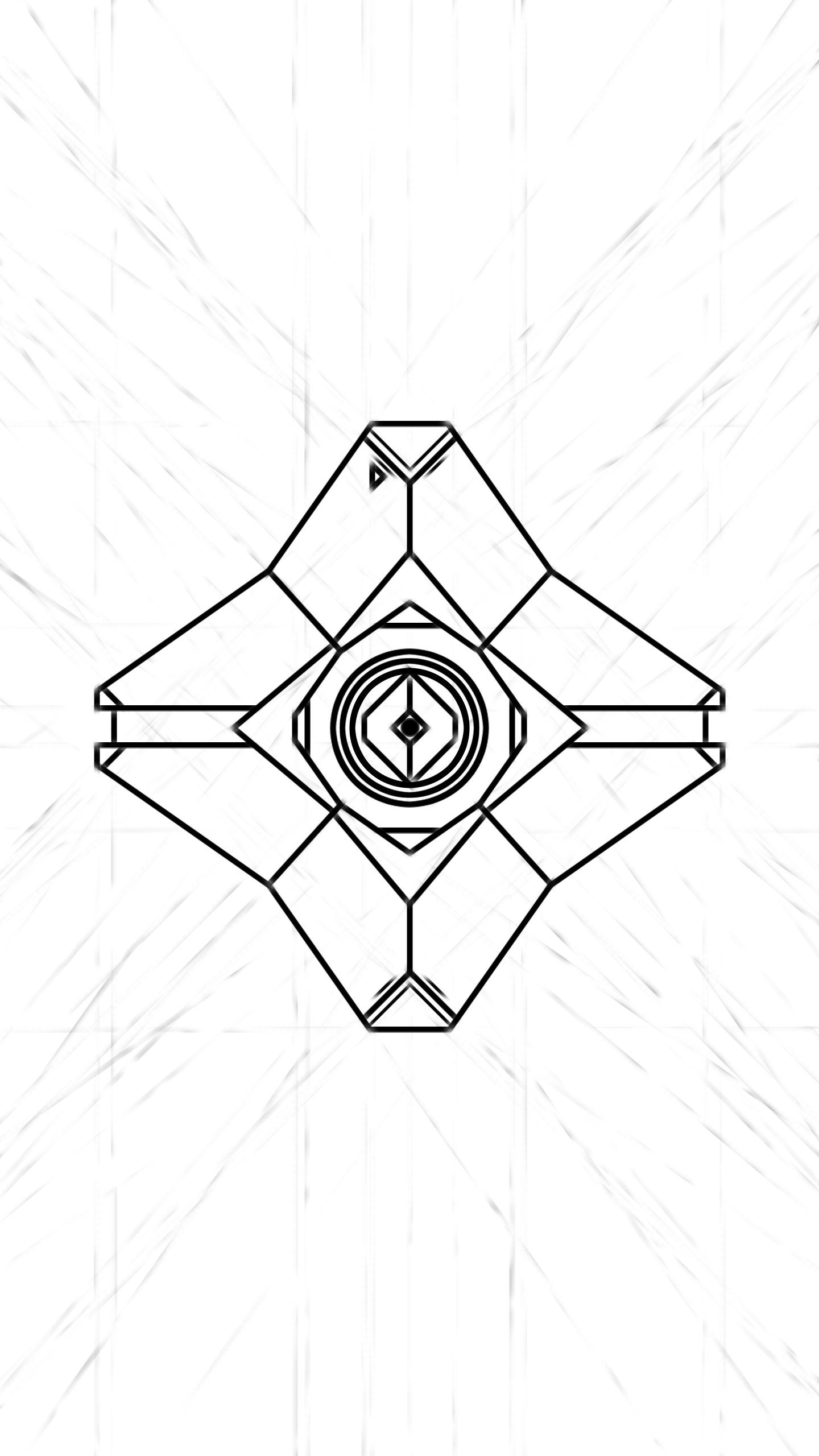 1440x2560 Destiny Ghost Doodle Wallpaper Work In Progress