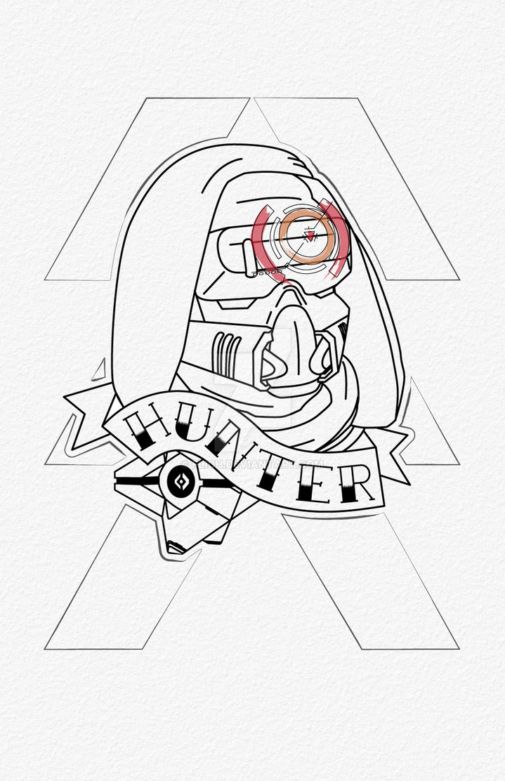719x1112 Destiny Hunter Tattoo By Flich