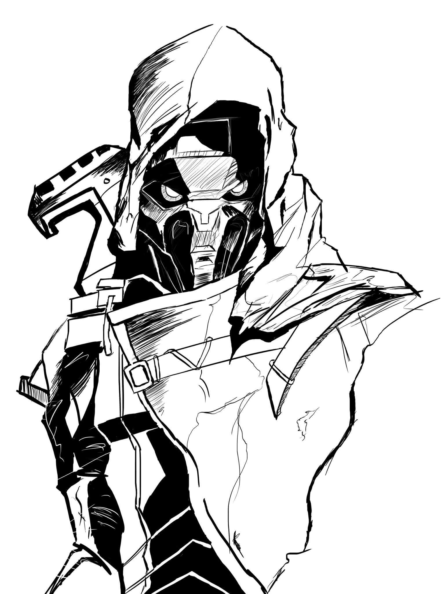 1536x2048 Cayde 6 From Destiny. This Is My Drawing Over A Referance