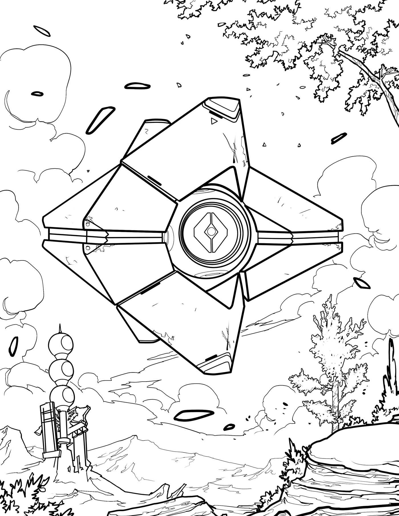 1399x1811 Destiny Coloring Pages