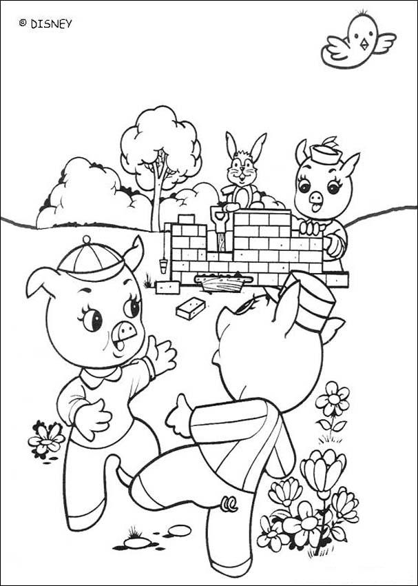 607x850 House Building Pig Coloring Pages
