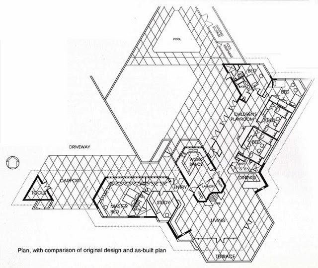 640x540 Plan. Dr. George Ablin House.1961. Bakersfield, California