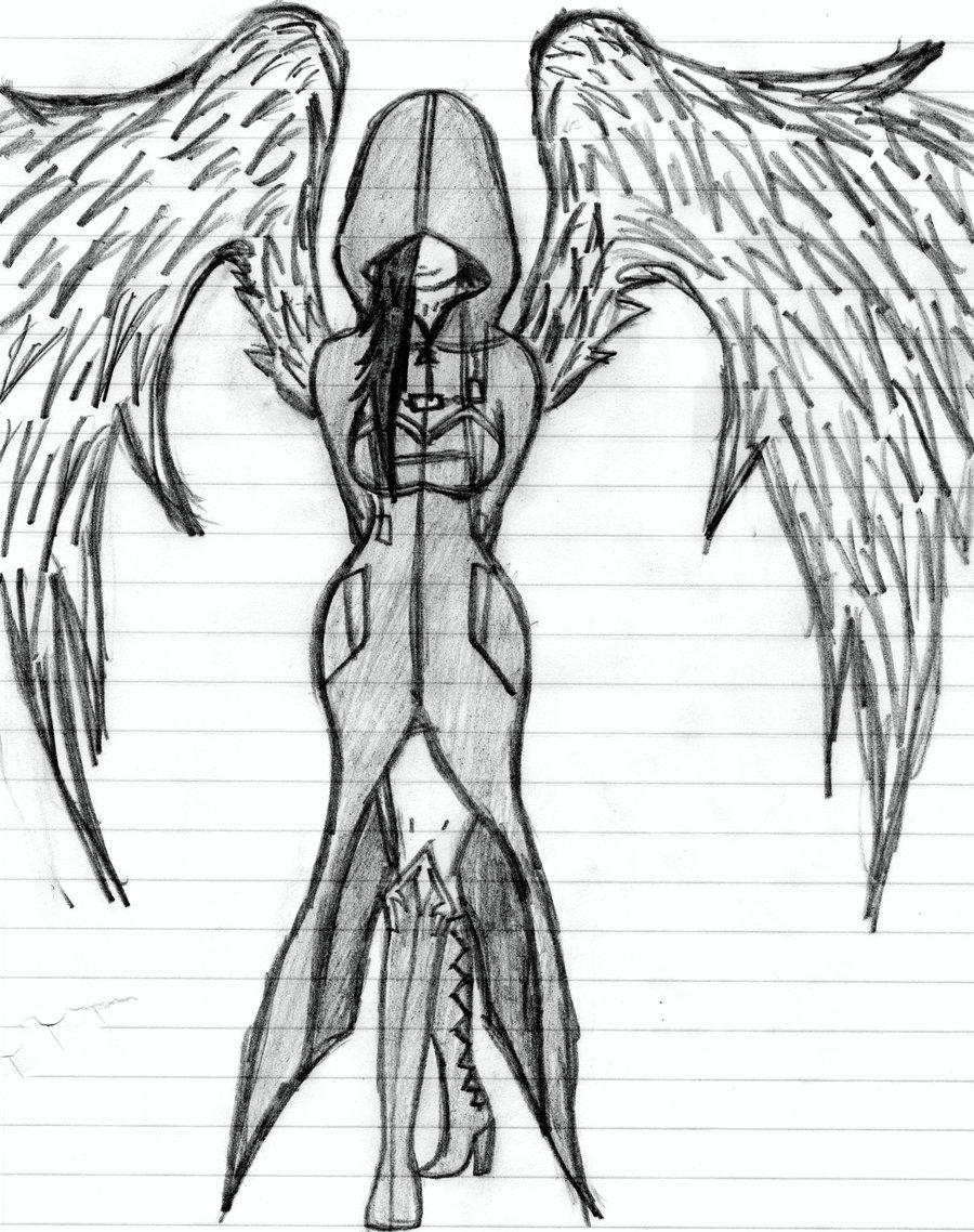 900x1138 The Dark Angel By Nerosaix