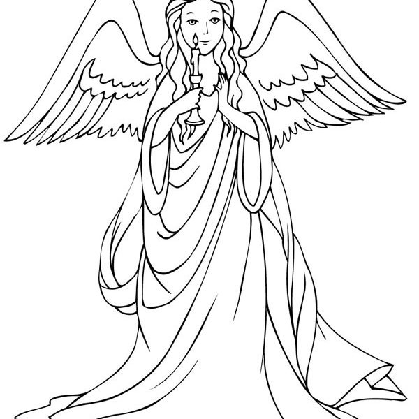 600x600 Angel Coloring Pages Printable Coloring Pages