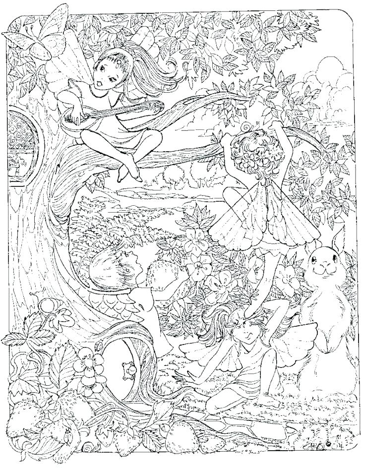 736x944 Detailed Fairy Coloring Pages Free Coloring Pages Of Detailed