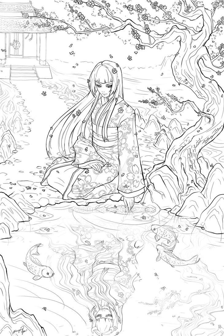730x1095 Geisha Commission by yuumei on DeviantArt