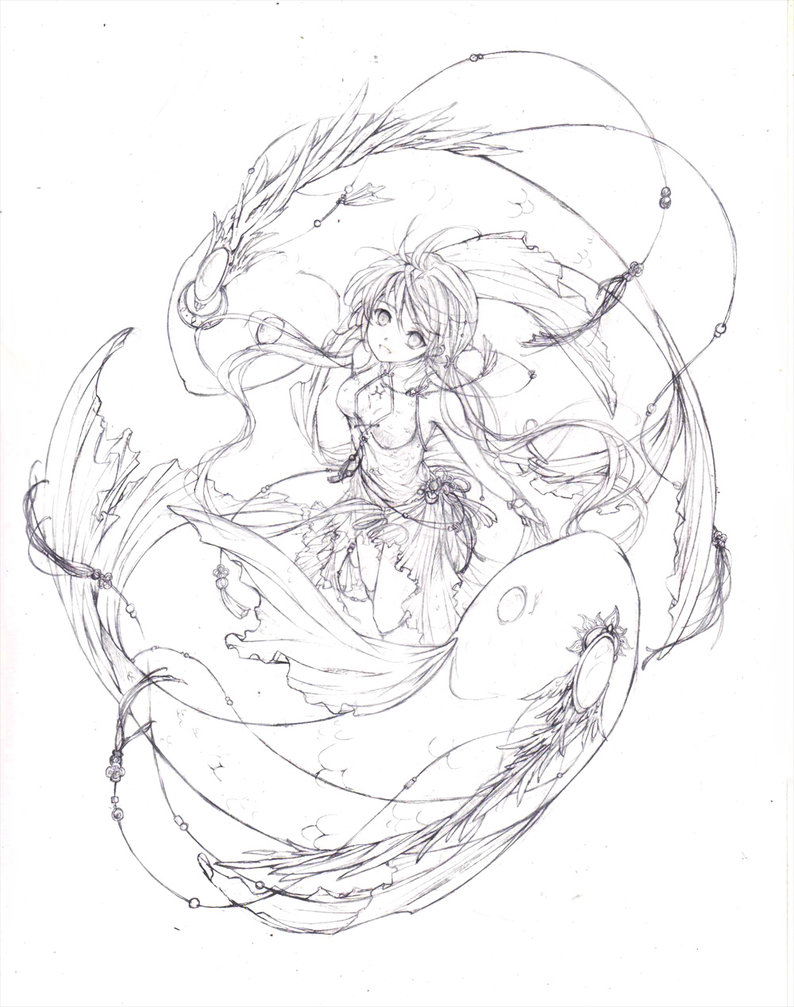 794x1007 Pisces with Ying And Yang by chocobikies on DeviantArt