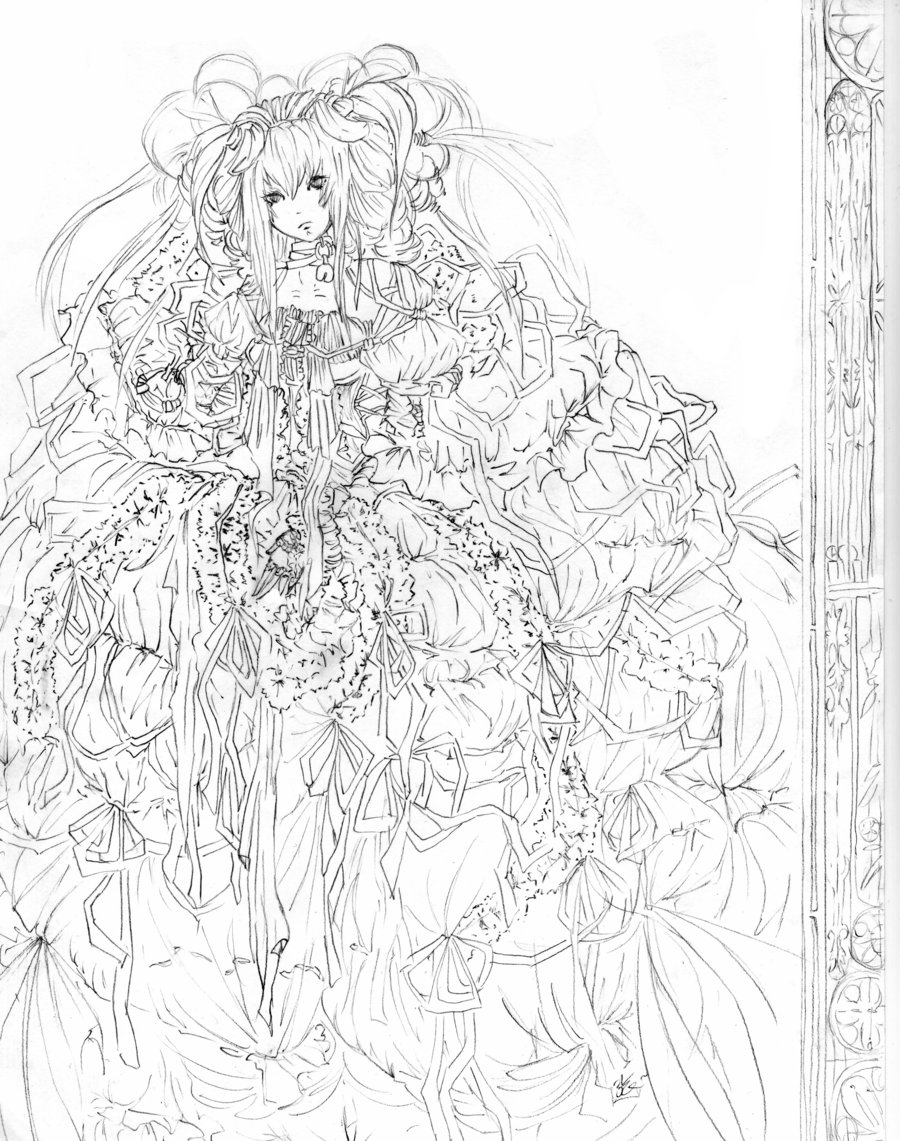 900x1141 Ribbons and Lace line by Stariaria on DeviantArt
