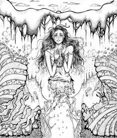 236x279 Sexy Smokey Dream girl steampunk style anime drawing by Iambuni