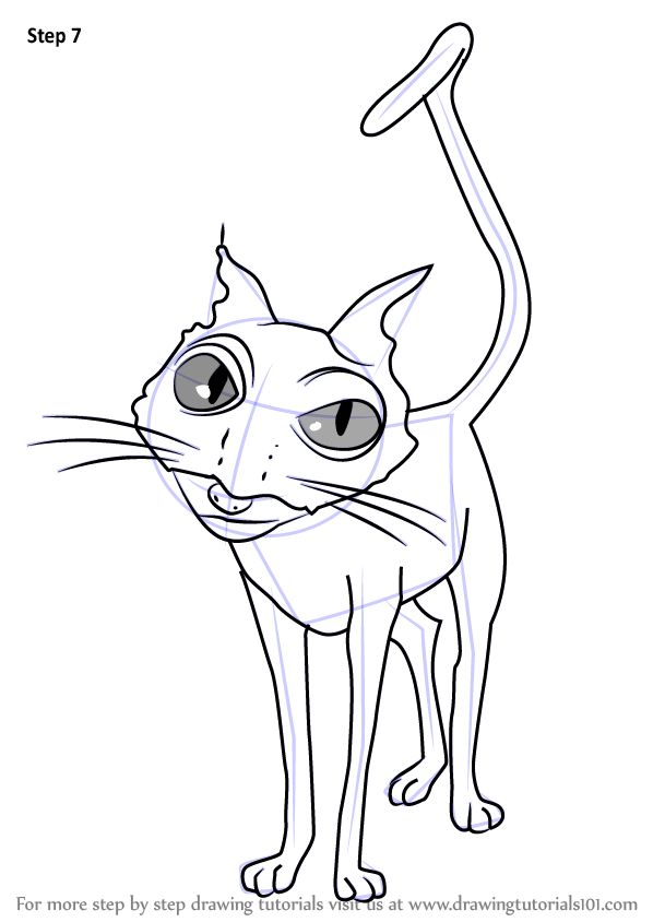 598x844 Cat From Coraline Color Page