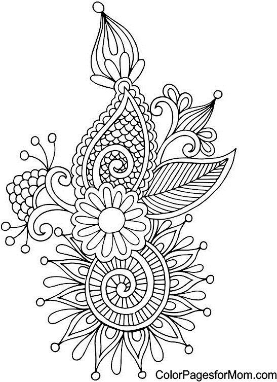 547x753 Abstract Doodle Zentangle Coloring Pages Colouring Adult Detailed