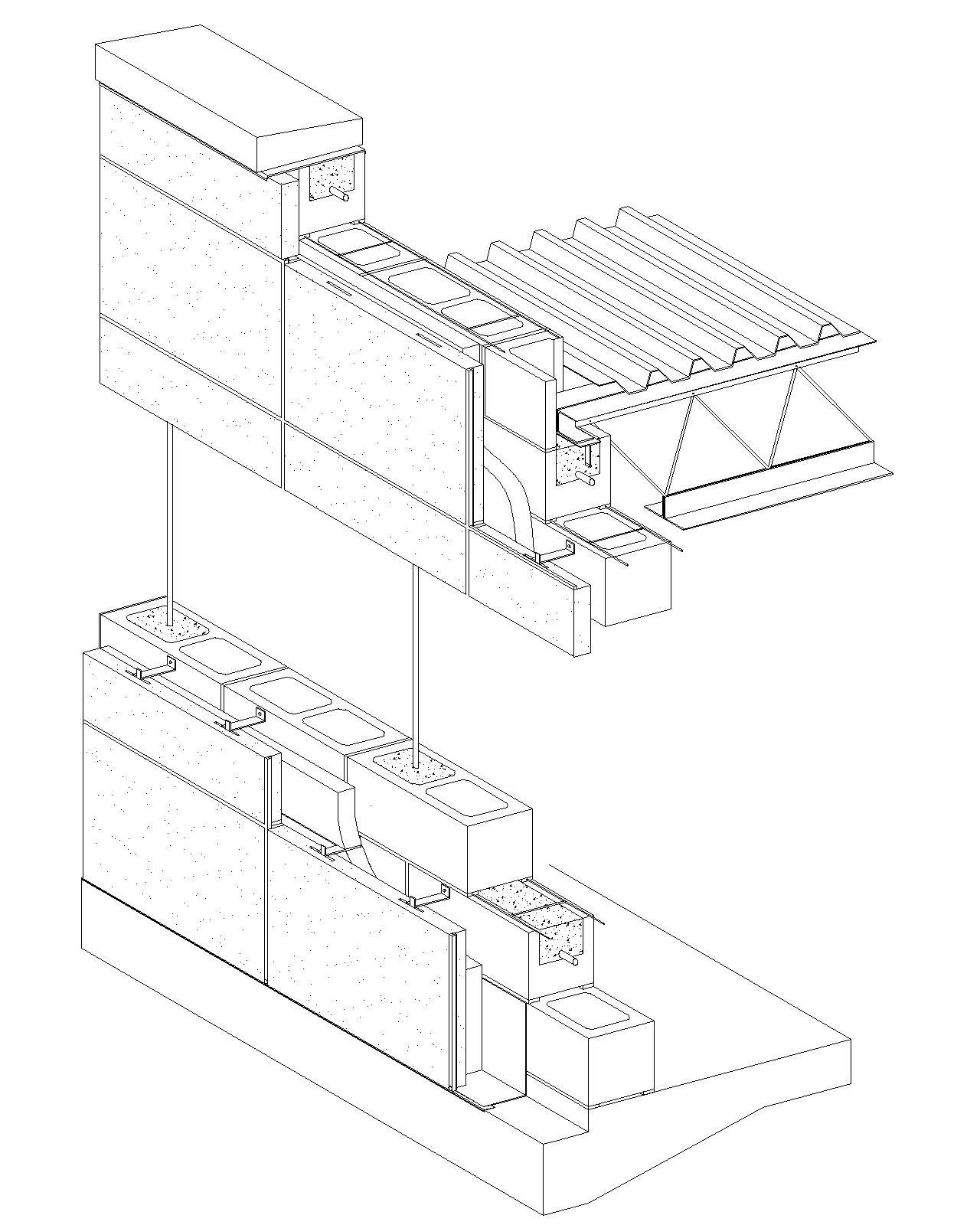 1280x1600 Cast In Place Concrete Wall Section Detail Concrete Block Veneer
