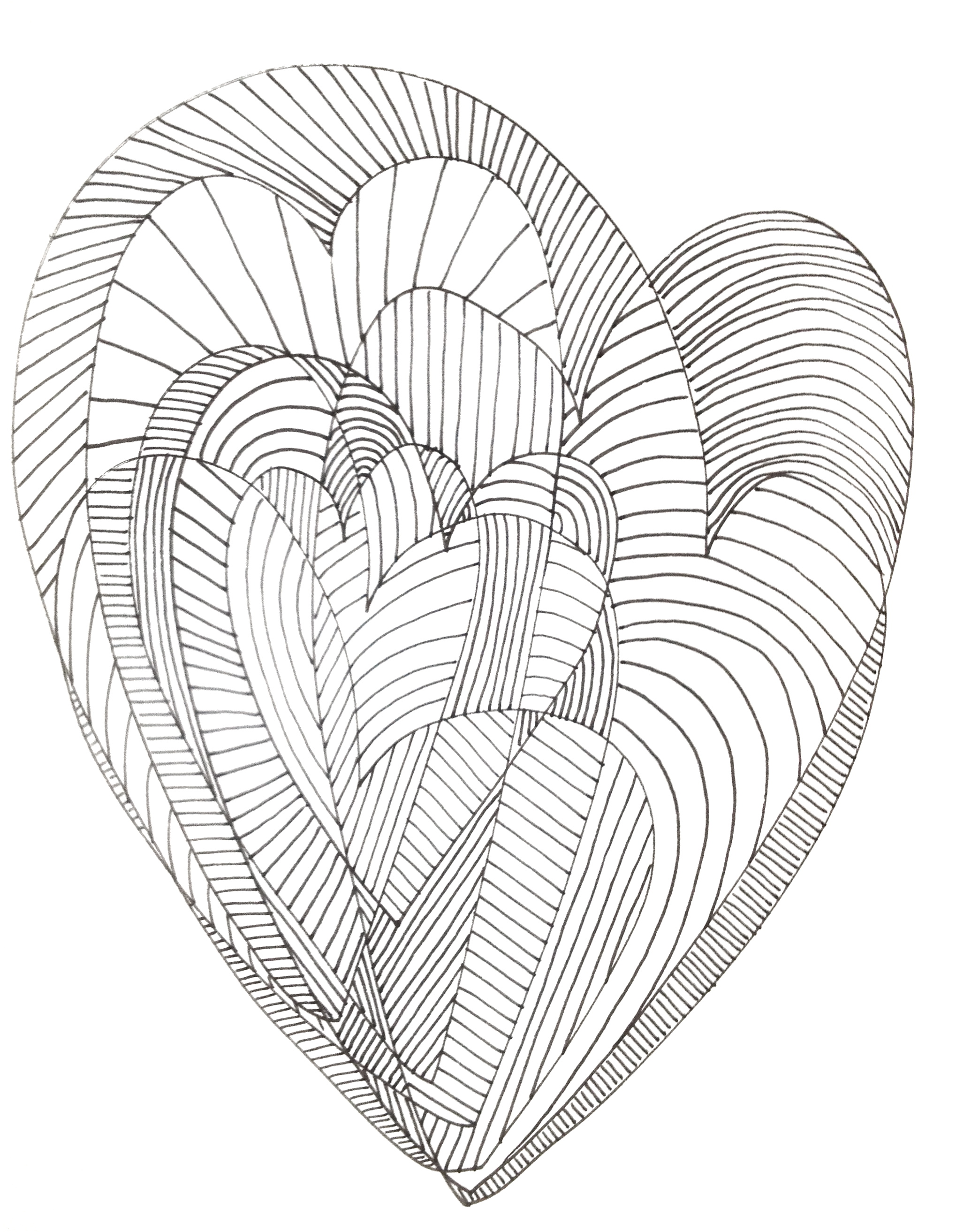 Detailed Heart Drawing at GetDrawings | Free download