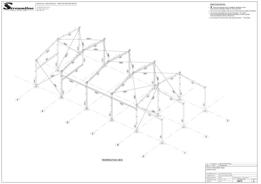 1000x707 Drawings Streamline Steel Detailing