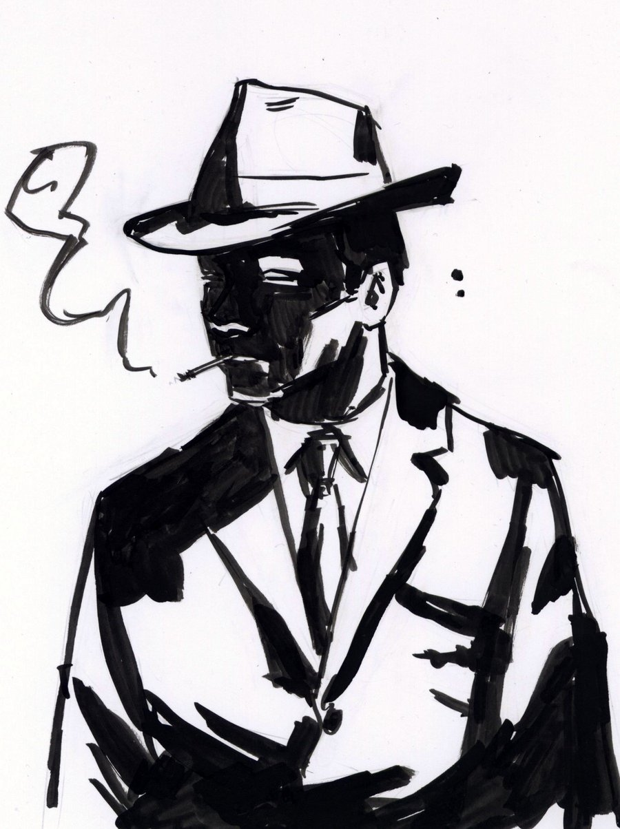 900x1204 Detective Ink Sketch By Robwake