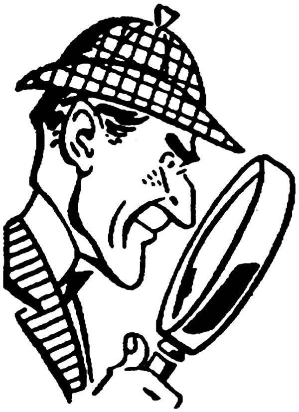 600x827 Detective Sherlock Holmes Coloring Page For Kids