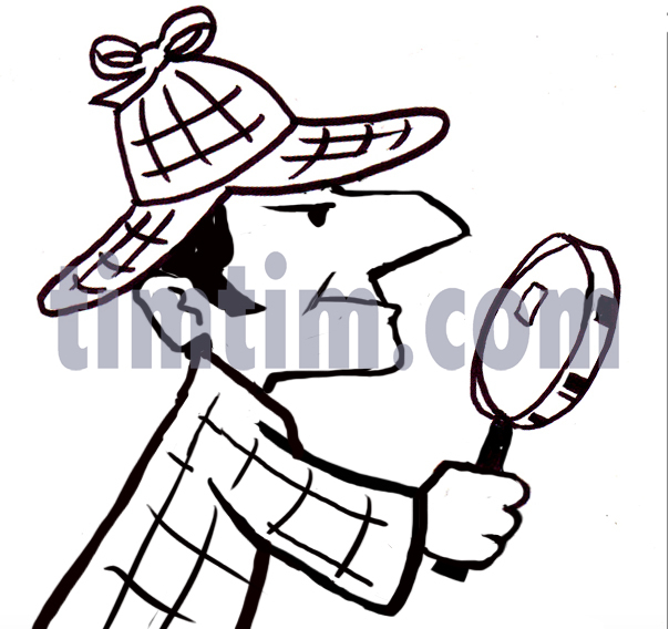 604x568 Free Drawing Of A Detective Bw From The Category Occupations +