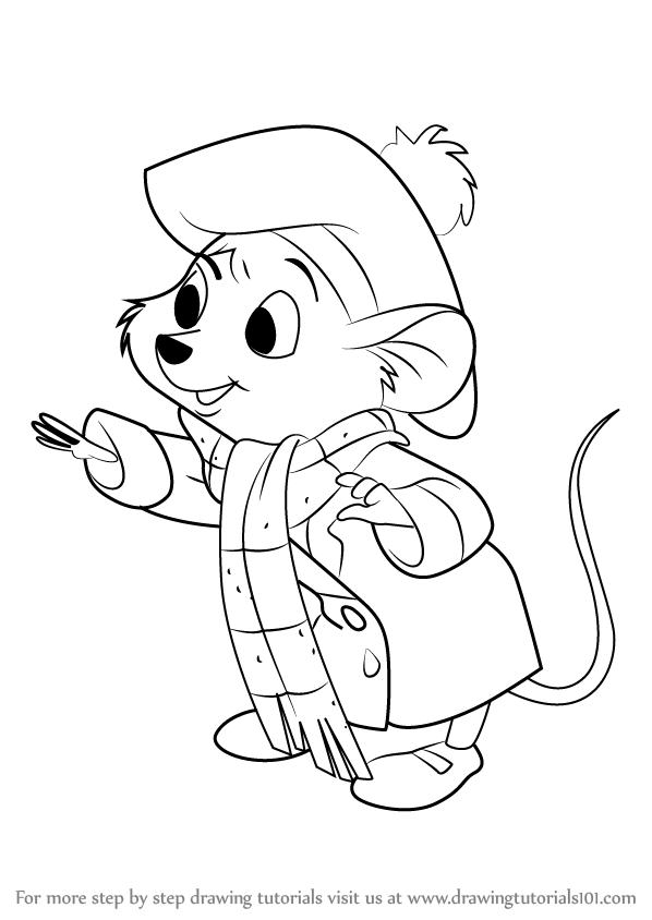 598x844 How To Draw Olivia Flaversham From The Great Mouse Detective