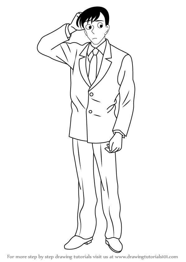 598x844 Learn How To Draw Wataru Takagi From Detective Conan (Detective