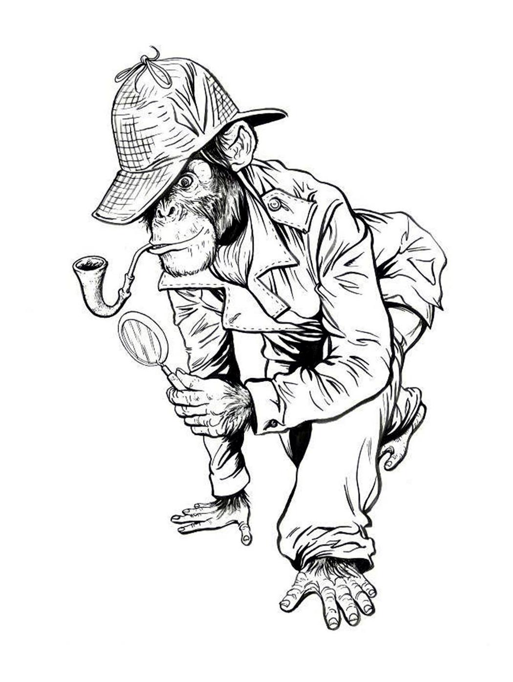 1050x1396 Sketch Lottery! Detective Chimp