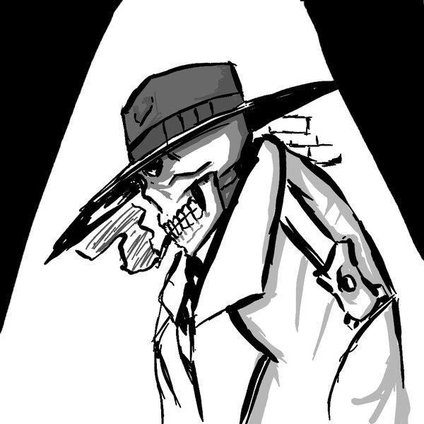 600x600 Skull Detective By Kyoshin523