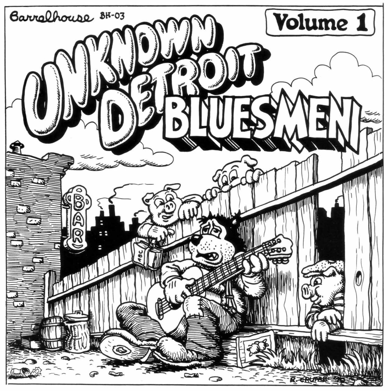 1280x1283 Robert Crumb Unknown Detroit Blues, 1970 Illustration