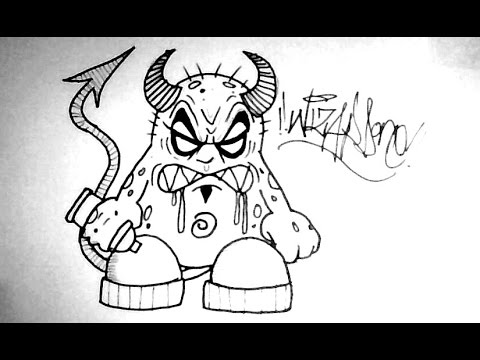 480x360 How To Draw A Monster Devil Cartoon